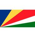 seychellois flag vector image vector image