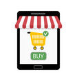 shop on tablet vector image vector image
