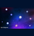 space background with planets vector image vector image