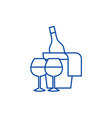 sparkling wine line icon concept sparkling wine vector image vector image