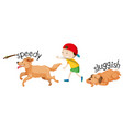 speed and sluggish dog vector image vector image