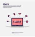 startup concept for presentation promotion social vector image