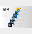 timeline template with photos vector image vector image