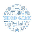 video game round concept modern linear vector image vector image