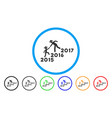 years guys help rounded icon vector image vector image