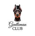 doberman pinscher dog with top hat vector image
