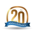 20 years anniversary experience gold label vector image