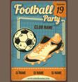 a boot ball and football goal vector image