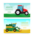 agricultural vehicles and farm machines set of vector image vector image