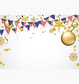 balloon of happy new year gold and black colors vector image