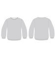 basic sweater template vector image vector image