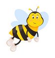 bee cartoon cute honeybee insect vector image