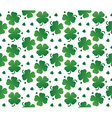 bright seamless texture leaves clover vector image vector image