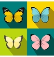 Butterfly banners set flat style vector image