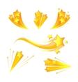 Cartoon stars burst elements vector image vector image