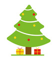 christmas tree with red vector image
