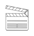 clapperboard movie icon image vector image