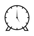 clock line black icon vector image vector image