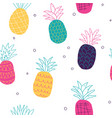 colorful abstract pineapples seamless pattern vector image vector image