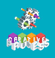 creative process concept vector image vector image