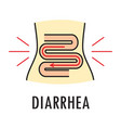 diarrhea or food poisoning logo or icon vector image vector image