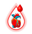 donate blood medical and healthcare i vector image vector image