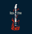 electric rock guitar image vector image