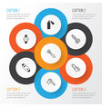 equipment icons set collection of alkaline vector image vector image