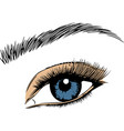 eye on white background eyes art woman vector image