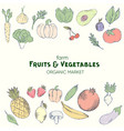 farm vegetables poster vector image