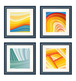 four abstract artworks vector image vector image