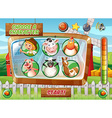 Game template with farm theme vector image vector image