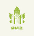 go green eco poster concept save planet vector image vector image