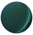 Green mosaic ball vector image