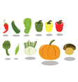 Group of Vegetables part 2 vector image vector image