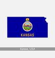 kansas usa map flag vector image vector image