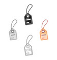 Label icon in cartoonblack style isolated on