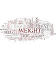 lose weight the healthy way text background word vector image vector image
