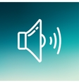Loudspeaker thin line icon vector image