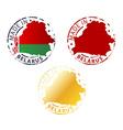 made in Belarus stamp vector image