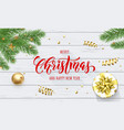 merry christmas and happy new year holiday golden vector image vector image