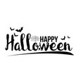 message text banner halloween happy alphabet vector image