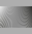 monochrome abstract gradient background with moire vector image vector image