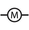 motor electric industrial icon vector image vector image