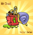 mr snail with beggar vector image vector image