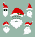 new year s collection of clothes santa hats vector image