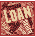 Nsecured Loan To Secured Loan How A Loan Company vector image vector image