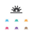 of air symbol on sundown icon vector image vector image