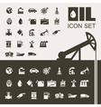Oil Industry Flat Icon Set vector image vector image