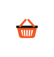 orange shopping bag retail logo design template vector image
